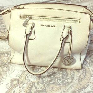 Authentic Michael Kors White Purse
